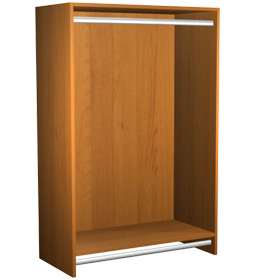 Double Hanging clothes rack Section Cabinet 30x47x15 - Closet ...
